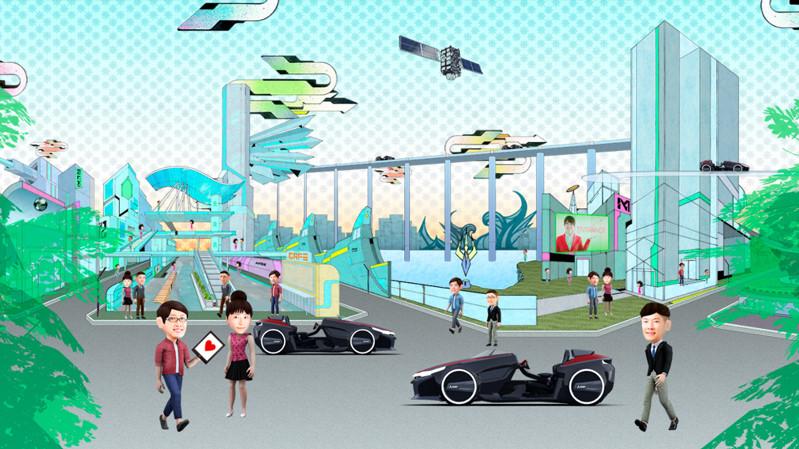 三菱電機 <br>64面ディスプレイ METoA VISION「Into the future」 [ 3DCG|TVCM/ムービー撮影 ]
