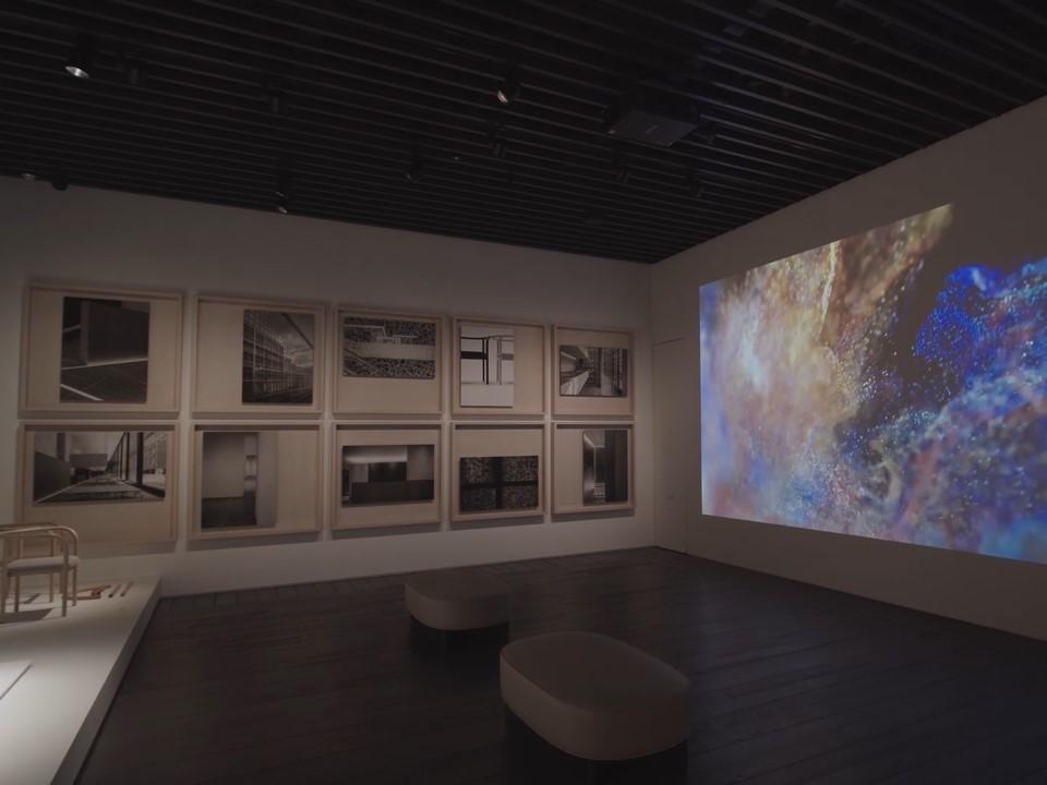 開館記念展でのプロモーション映像上映